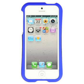 iPhone 5 5S Detachable Bumper Blue Black