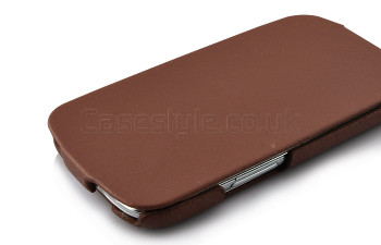 Samsung Galaxy S3 Real Leather Flip Case Brown