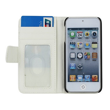 iPod Touch 6/5 Leather Style Wallet Case White