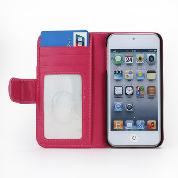 iPod Touch 6/5 Leather Style Wallet Case Pink
