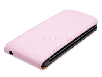 iPod Touch 6/5 Leather Flip Case Pink