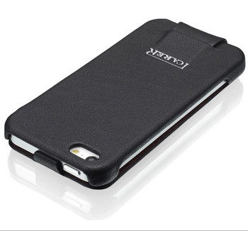 iCarer iPhone 5 5S Vogue Flower Leather Case Black