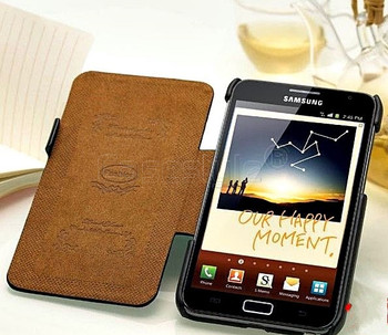 Samsung Galaxy Note 2 Premium Genuine Leather Wallet Black