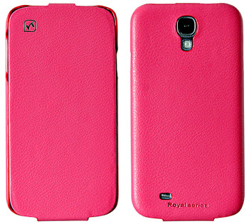 Hoco Samsung Galaxy S4 Genuine Leather Flip Case Pink