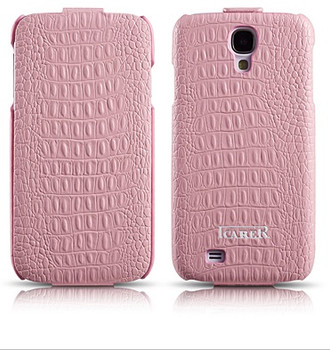 Pink Leather Galaxy S4 Flip Case