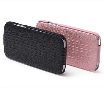 iCarer Samsung Galaxy S4 Crocodile Shiny Genuine Leather Case Pink