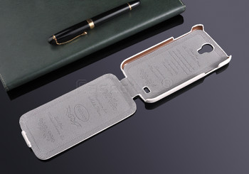 Samsung Galaxy S4 Genuine Leather Flip Case White