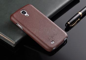 Samsung Galaxy S4 Genuine Leather Flip Case Dark Brown