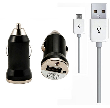 HTC One In Car Charger Black with USB Cable