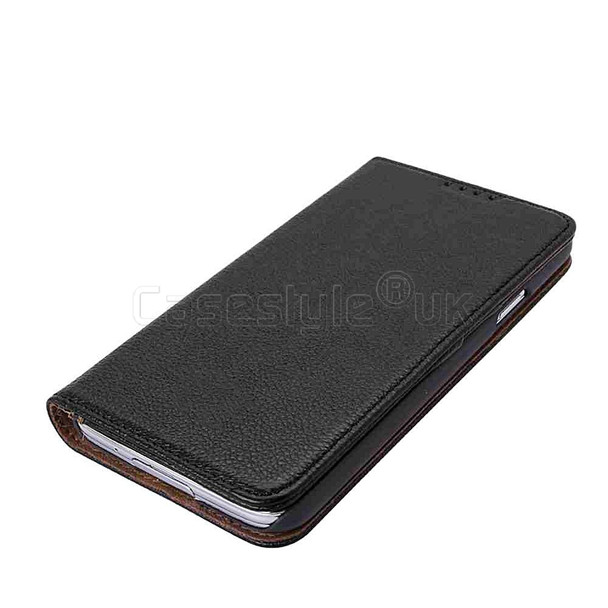 Samsung Galaxy S5|S5 Neo Genuine Leather Wallet Case Black