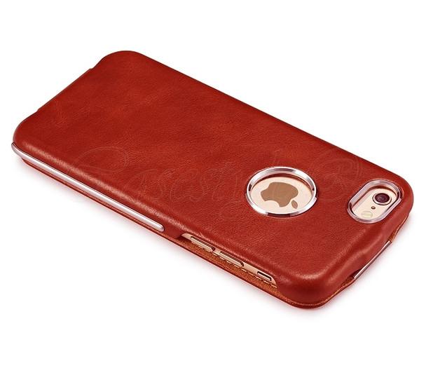 iCarer iPhone 6 6S Vintage Leather Flip Case Red