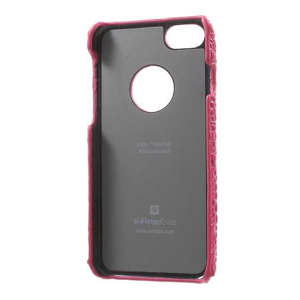 iPhone 7 Crocodile Case Genuine Leather Pink