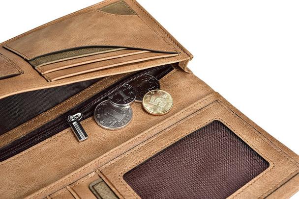 Premium Cowhide Leather BiFold Wallet Unisex