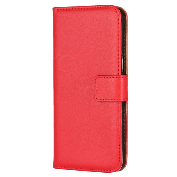 Samsung Galaxy S8+Plus Leather Cover Case Red
