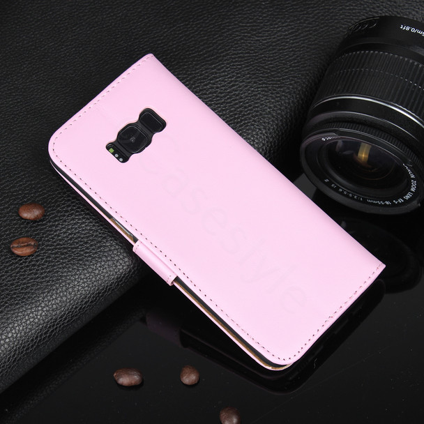 Samsung Galaxy S8+Plus Leather Cover Case Pink