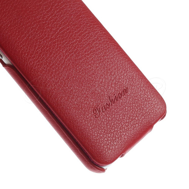 iPhone 8 Leather Flip Lite Case Red