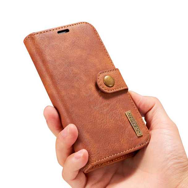 iPhone X Leather Wallet+Removable Case Cover Brown