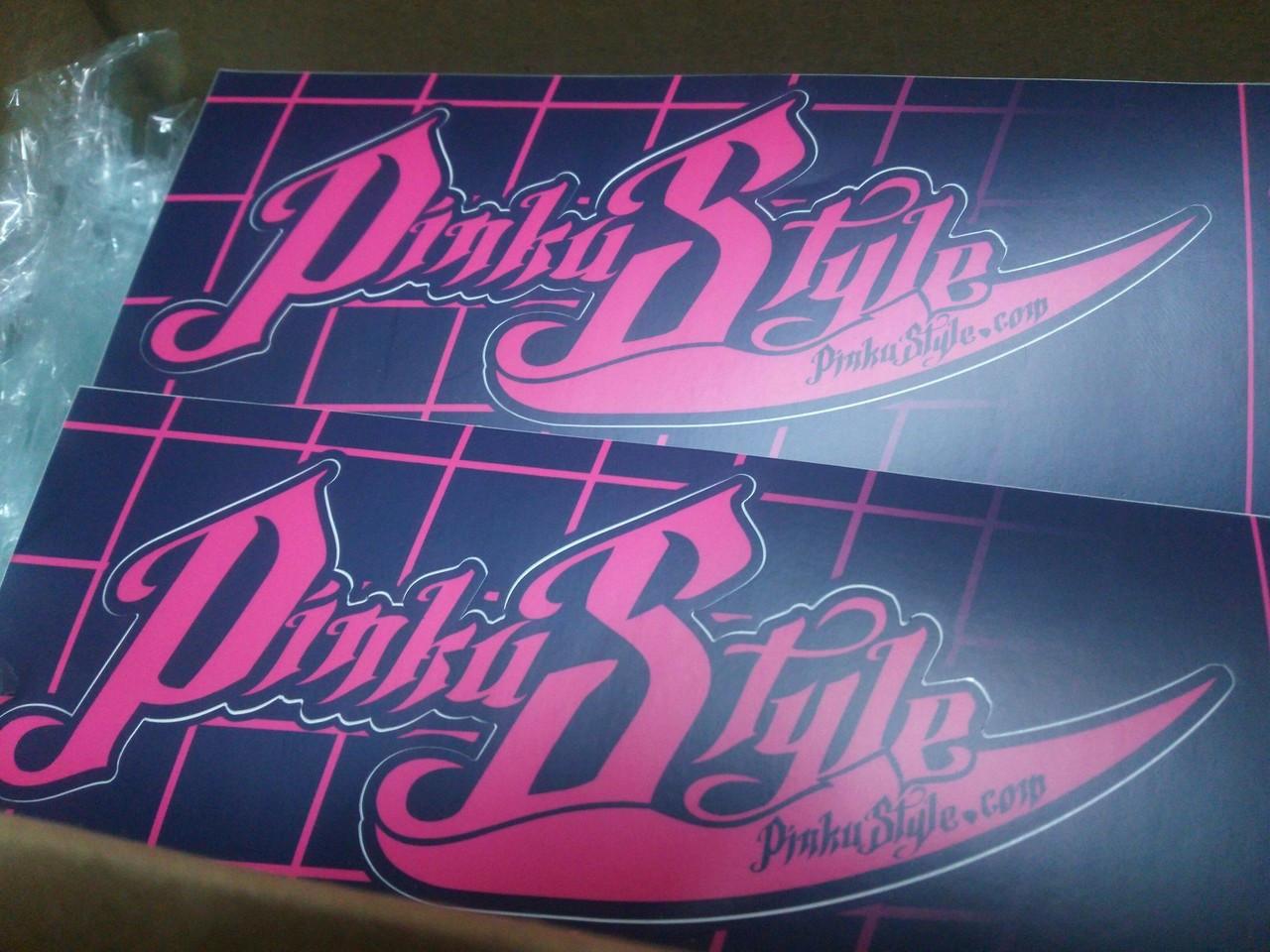 Pinku Style Sticker Large Size Kiss Cut