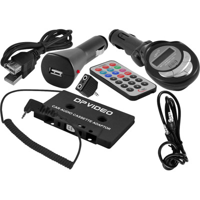 DP Audio Universal Accessory Kit w/ Stereo adapters Cables Splitter Car Charger