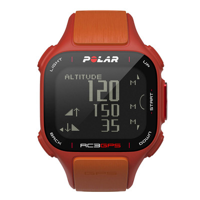 Polar RC3 GPS Without Heart Rate Sensor Watch in Red/Orange Running 90047381
