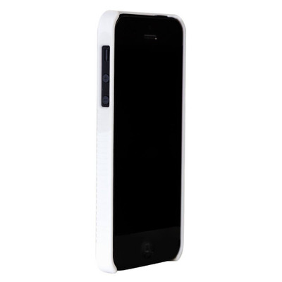Oker Hard Rubberized Case/Belt Holster For Iphone 4/4S - White