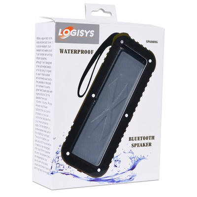 Logisys SP608MG Bluetooth Wireless Waterproof Rechargeable Speaker W/3.5Mm Aux