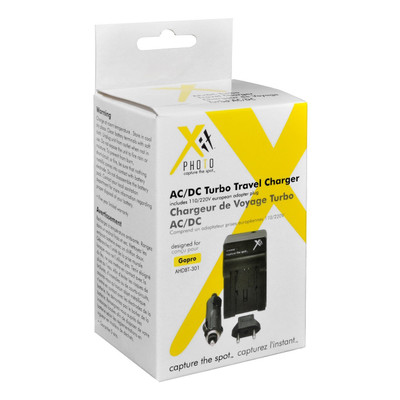 Xit Group AC/DC Turbo Travel Charger for GoPro Hero 3 AHDBT-301 - Black