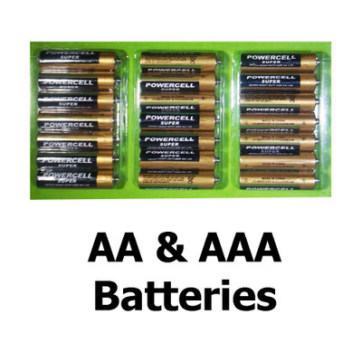 Powercell Super Extra Heavy Duty Size AA and AAA 1.5V Batteries