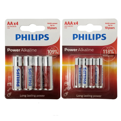 Philips AA AAA Batteries 1.5V Power Alkaline Double A Triple A Combo Battery