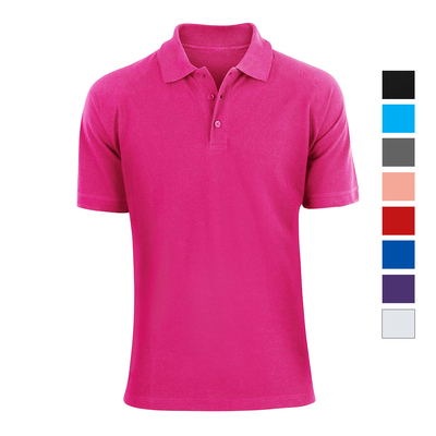Alta Fashion Designer Mens Classic Fit Cotton Polo Shirt - Multiple Colors