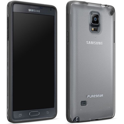 Pure Gear Slim Shell Protecive Cell Phone Case - Black/Clear - Samsung Galaxy Note 4