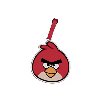 "Angry Bird - ""Big Red"" I.D. Luggage Tag with Adjustable Buckle"