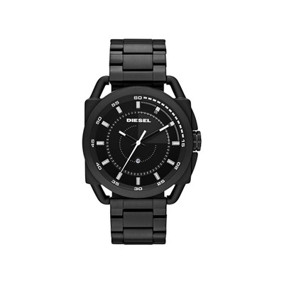 Diesel Men's DZ1580 Watch Black Tone Stainless Steel Bracelet Quartz Ion Plated