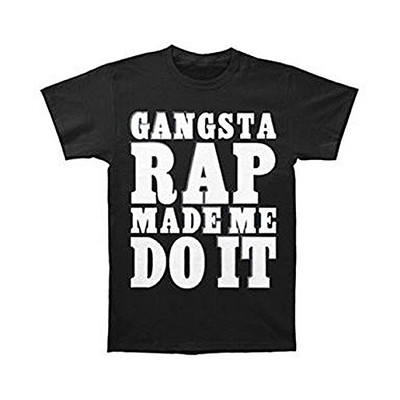 Ice Cube Raw Footage Men's Gangsta Rap Made Me Do It T-Shirt - Black