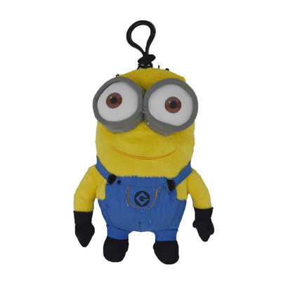 Despicable Me - Jerry Two Eye Minion 6-inch Plush Coin Clip Key Chain Toy Bag