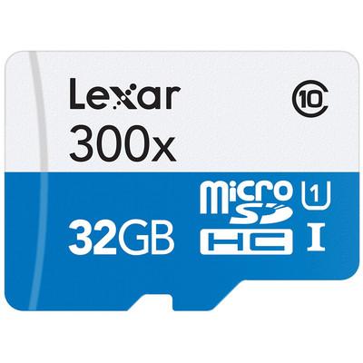 Refurbished Lexar 32GB High-Performance 300x Class 10 microSDHC UHS-I Memory Card