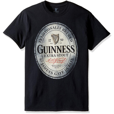 Guinness Traditionally Brewed Extra Stout Men's Crew Neck T-Shirt