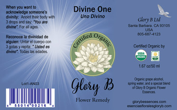 DIVINE ONE use to anoint in a ritual  highly honoring another soul.