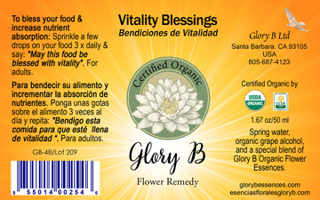 VITALITY BLESSINGS to gain vitality by increasing nutrient absorption