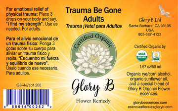 TRAUMA BE GONE ADULTS  for emotional relief of physical trauma