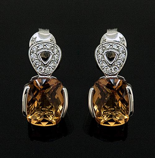 23510223 CITRINE AND DIAMOND EARRINGS 18K
