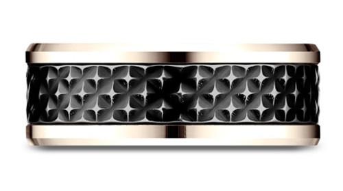Ammara Stone CF458745 Black Titanium Center 7mm
