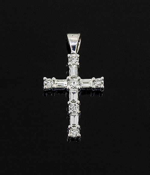 56011419 DIAMOND CROSS PENDANT 14K