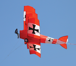 3D Red Baron Triplane Airplane Kite