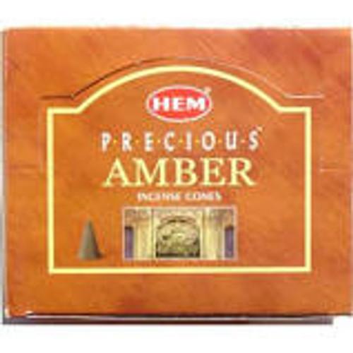 Amber Incense Cones