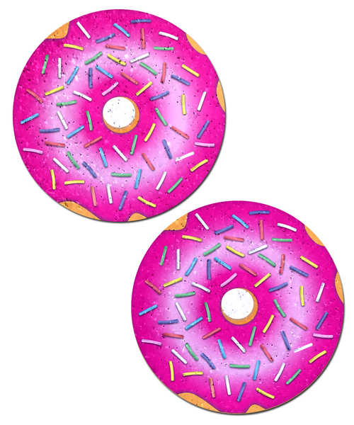 Donut with Pink Icing and Rainbow Sprinkles Nipple Pasties by Pastease® o/s