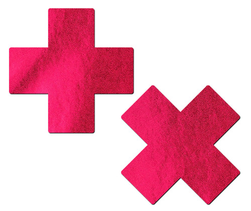 Plus X: Liquid Red Cross Nipple Pasties by Pastease® o/s