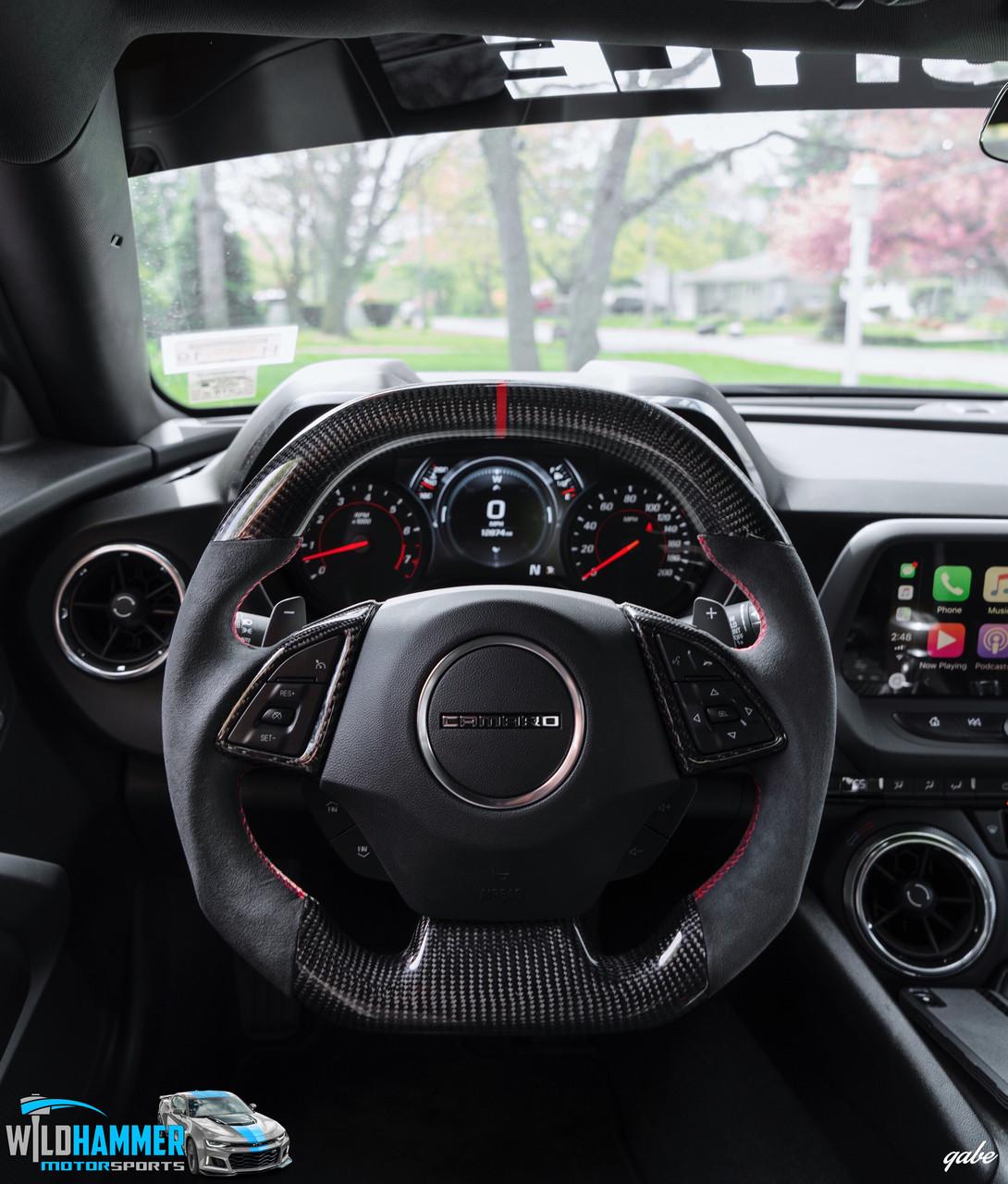 Camaro Carbon Fiber Steering Wheel - Wildhammer