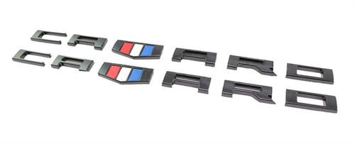 Camaro Black Fender Emblems (2) - General Motors