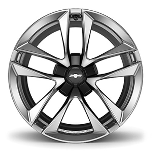 "Camaro 5-Split Spoke Aluminum W/ Black Star Center 20"" (5JW or 56K) - General Motors"